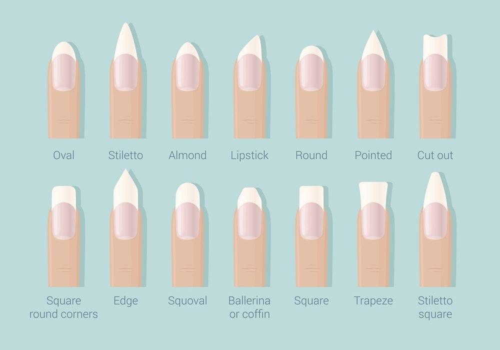 different shape nails