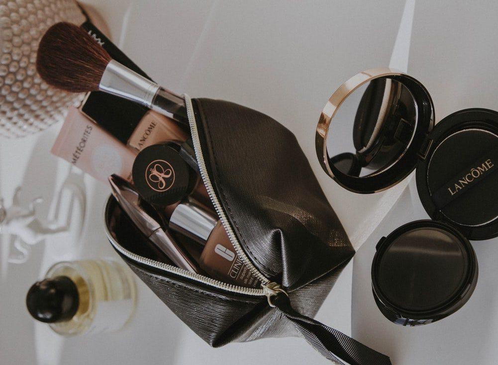 cleaning makeup bag