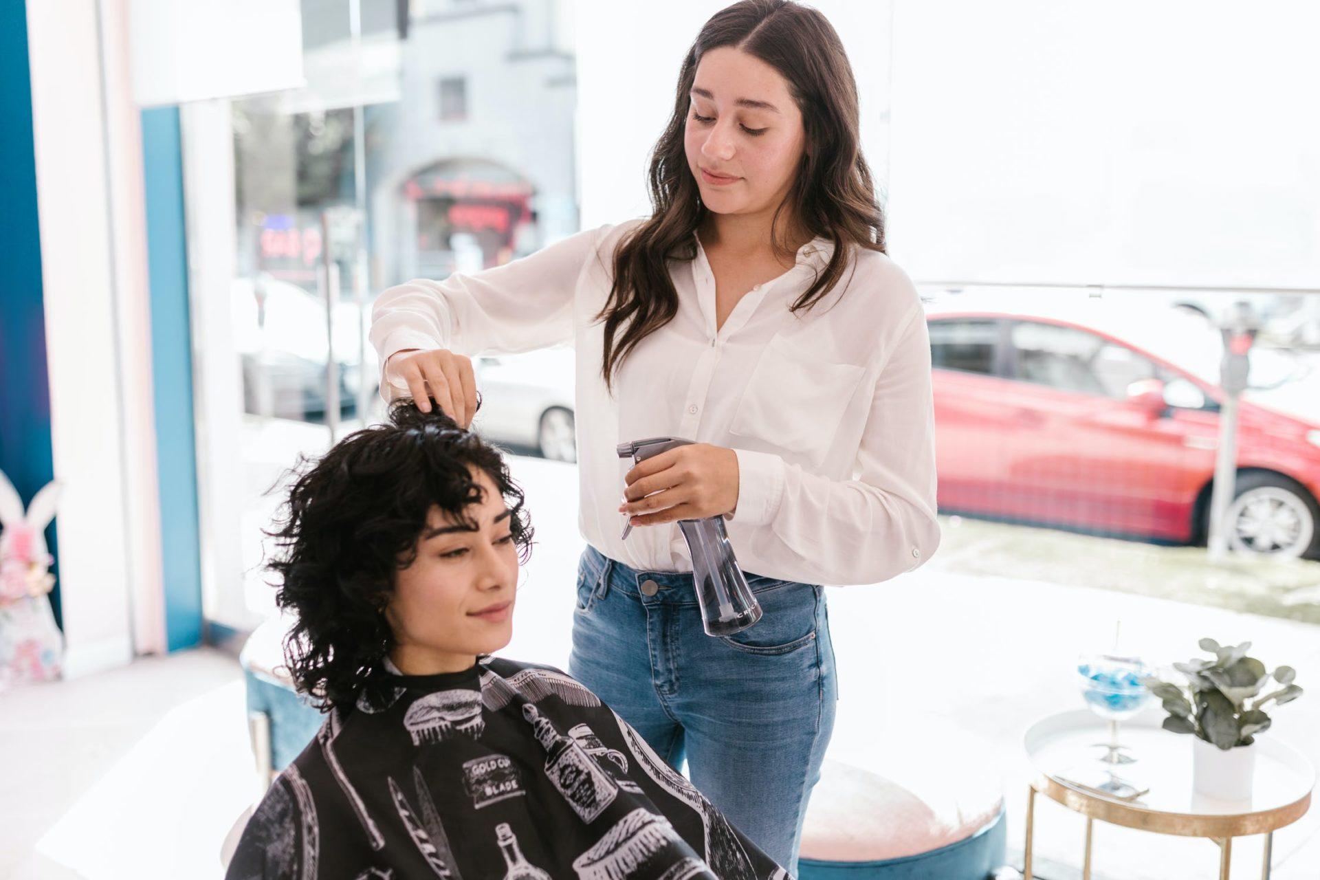 drying curly hair x2