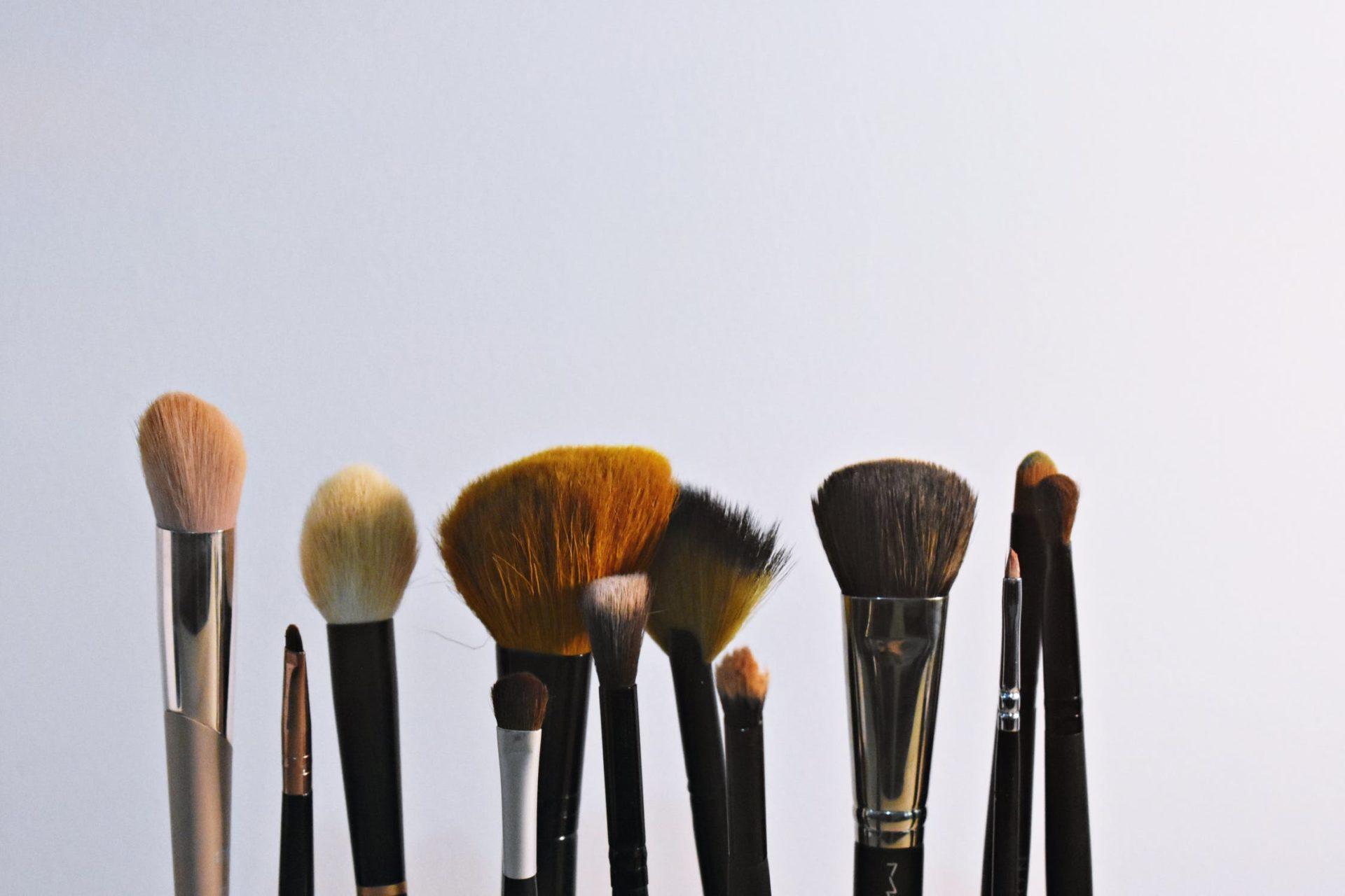 shedding makeup brushes x2