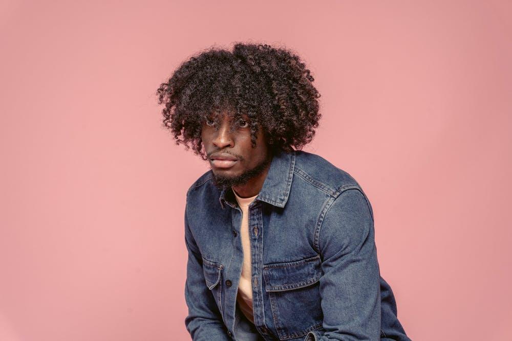 straighten curly hair men